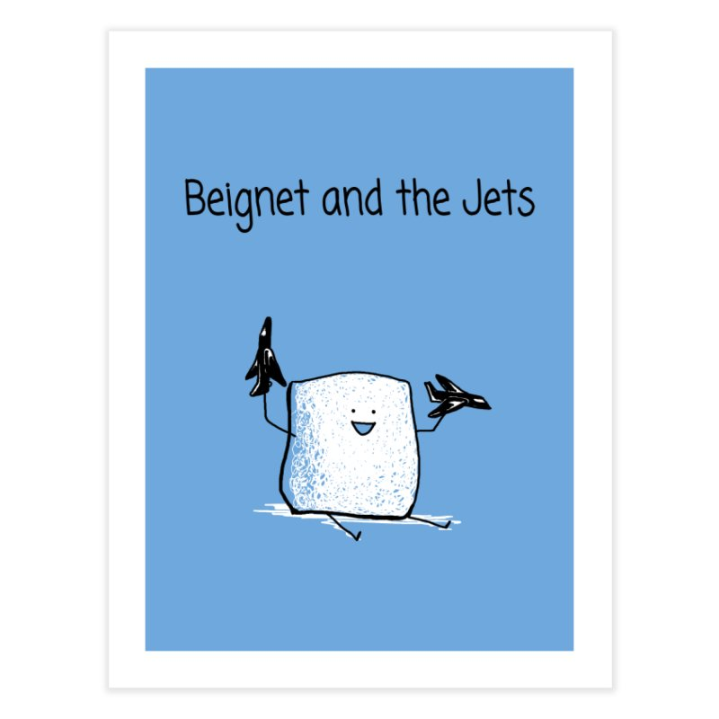 Beignet and the Jets Home Fine Art Print by 1 OF MANY LAURENS