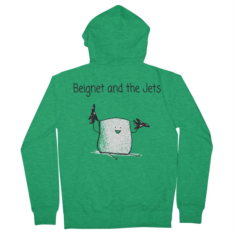 Beignet and the Jets Men's Zip-Up Hoody by 1 OF MANY LAURENS