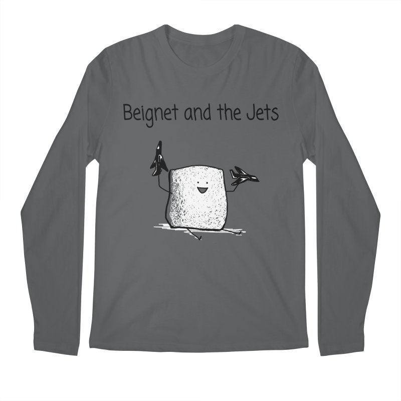 Beignet and the Jets Men's Longsleeve T-Shirt by 1 OF MANY LAURENS