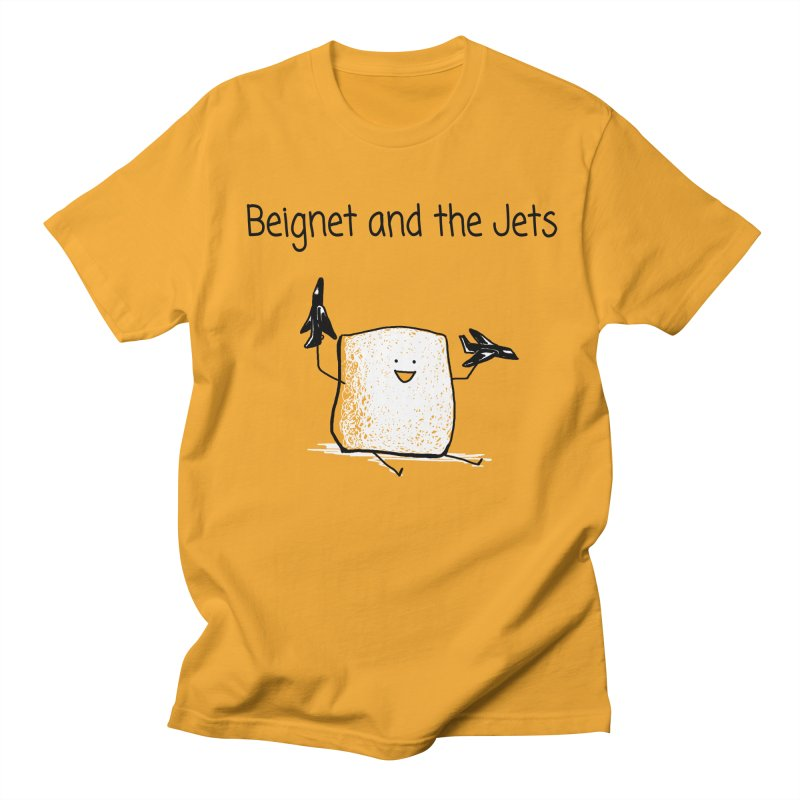 Beignet and the Jets Men's Regular T-Shirt by 1 OF MANY LAURENS