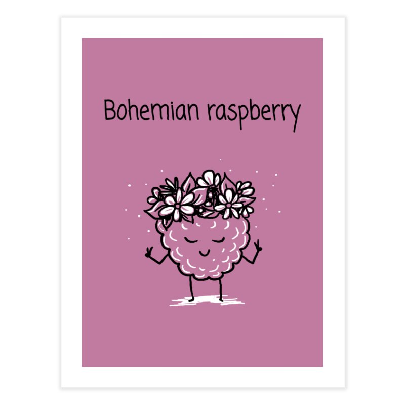 Bohemian raspberry Home Fine Art Print by 1 OF MANY LAURENS