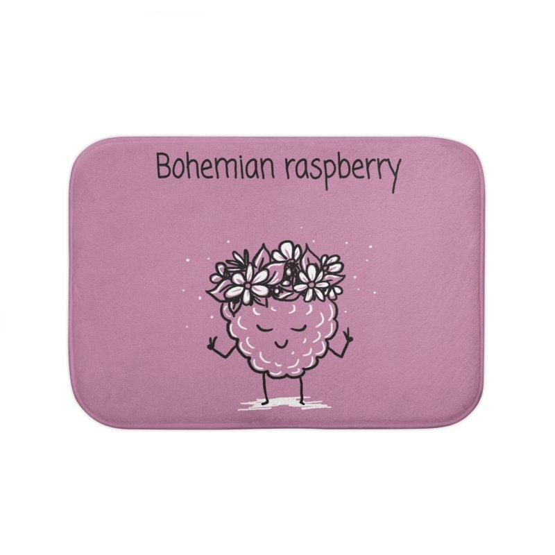 Bohemian raspberry Home Bath Mat by 1 OF MANY LAURENS