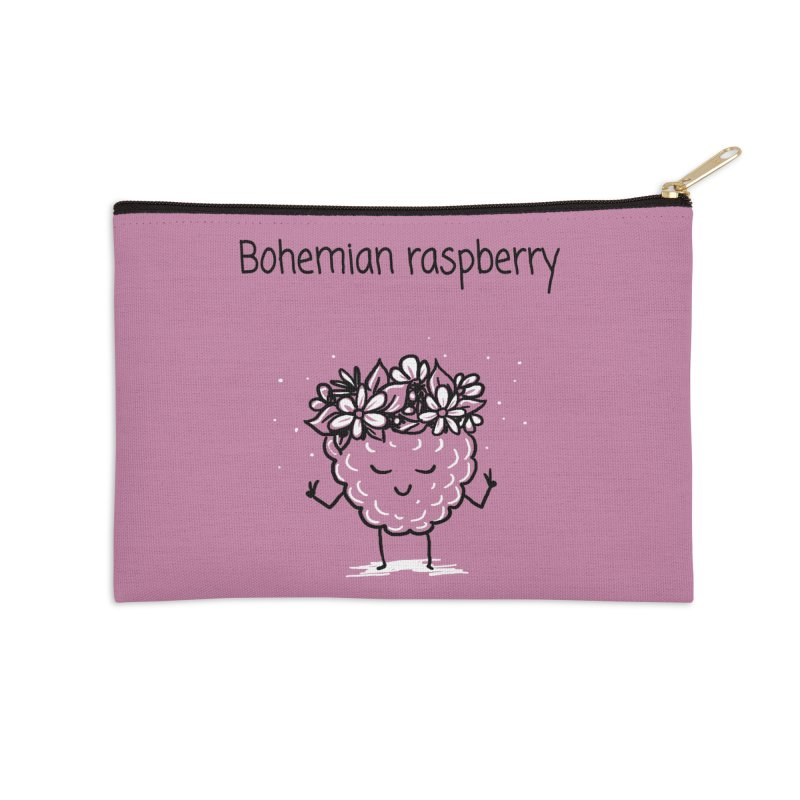 Bohemian raspberry Accessories Zip Pouch by 1 OF MANY LAURENS