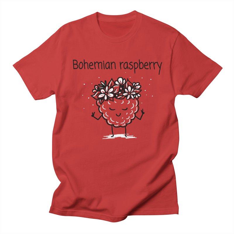 Bohemian raspberry Men's Regular T-Shirt by 1 OF MANY LAURENS