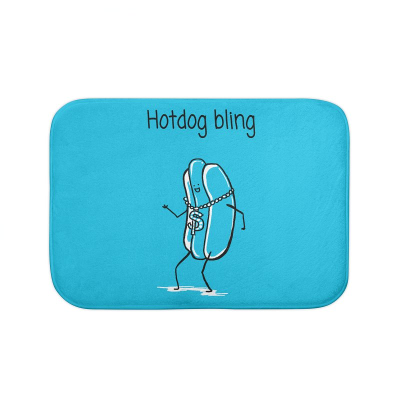 Hotdog bling Home Bath Mat by 1 OF MANY LAURENS