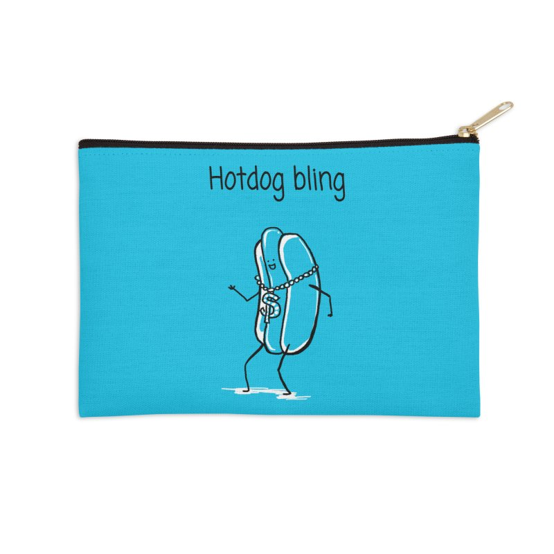Hotdog bling Accessories Zip Pouch by 1 OF MANY LAURENS