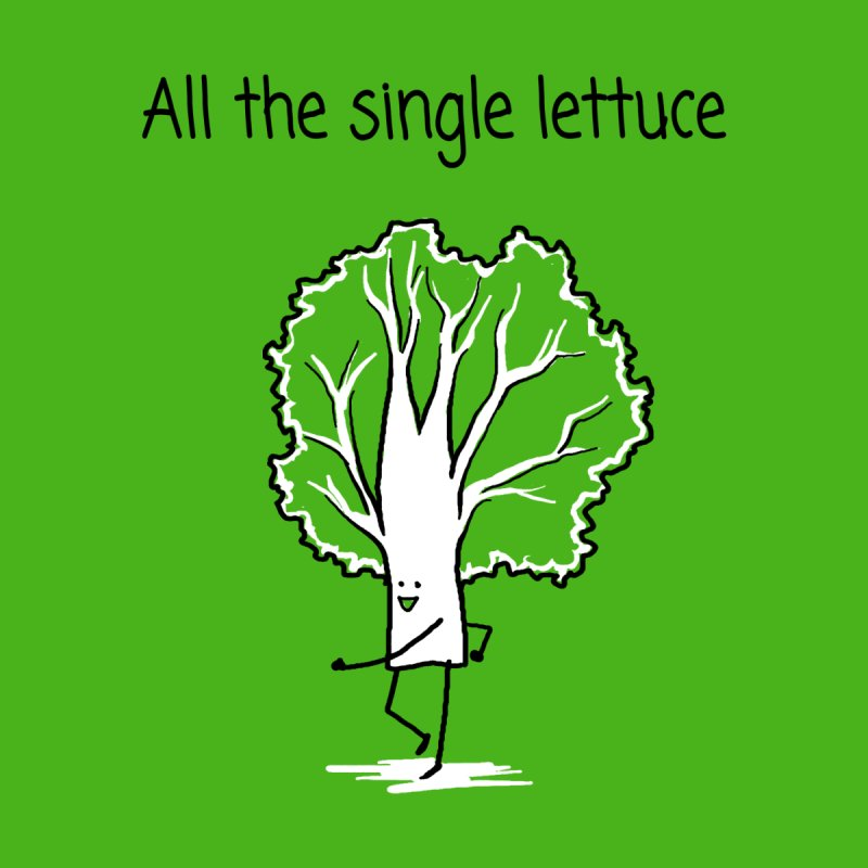 All the single lettuce Home Fine Art Print by 1 OF MANY LAURENS
