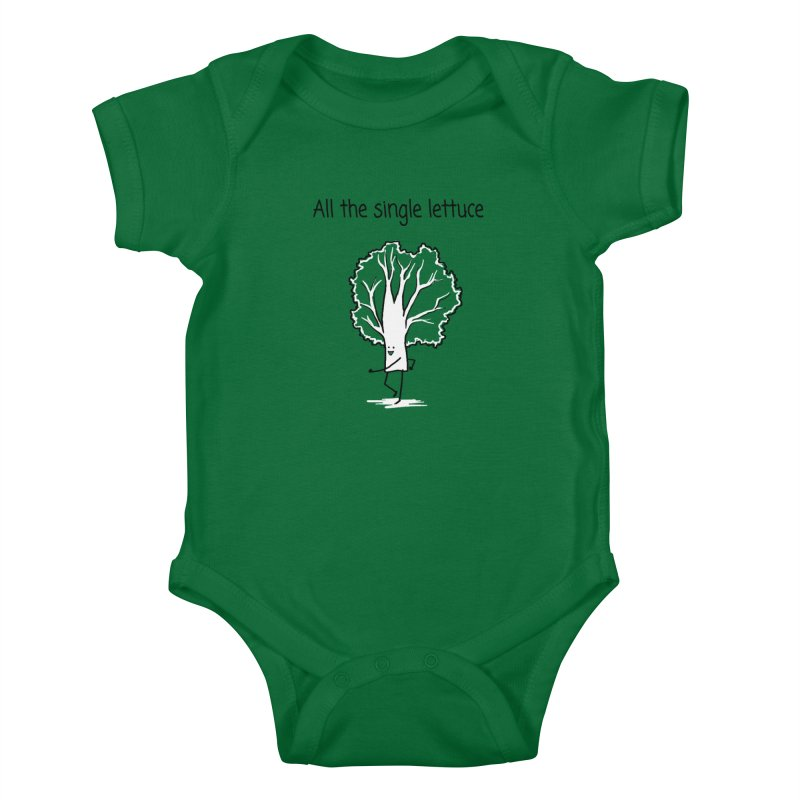 All the single lettuce Kids Baby Bodysuit by 1 OF MANY LAURENS