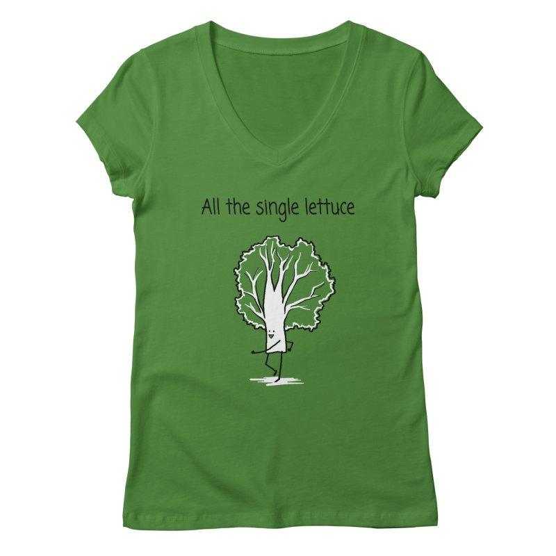 All the single lettuce Women's V-Neck by 1 OF MANY LAURENS