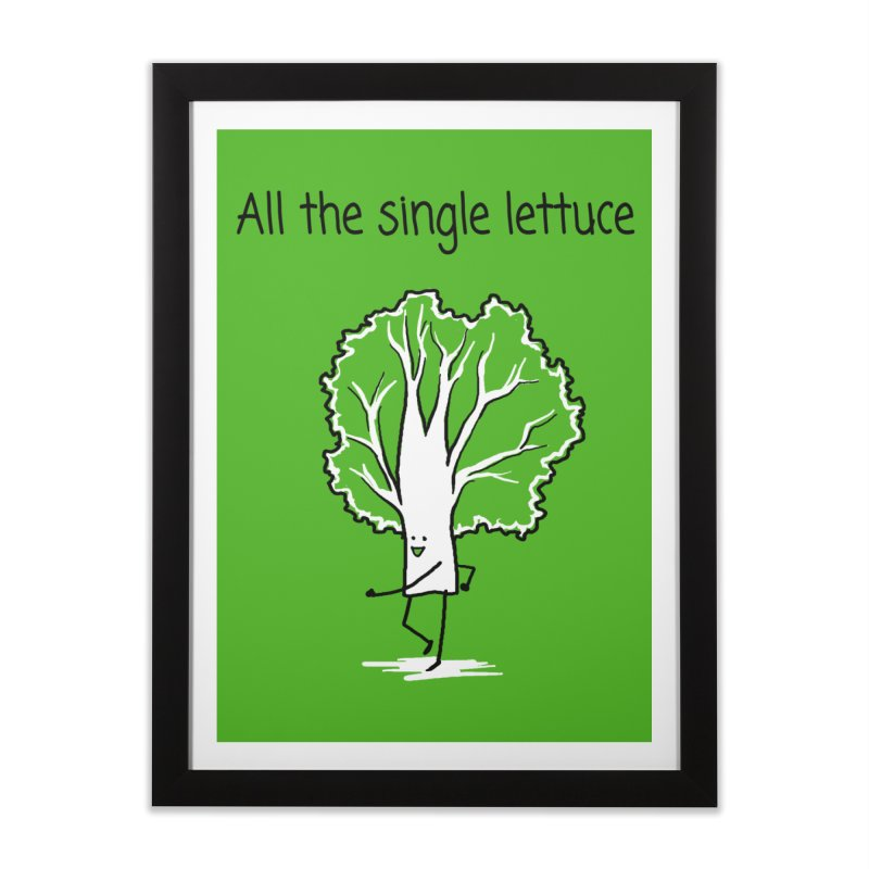 All the single lettuce Home Framed Fine Art Print by 1 OF MANY LAURENS