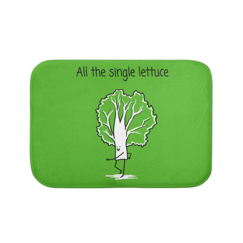 All the single lettuce Home Bath Mat by 1 OF MANY LAURENS