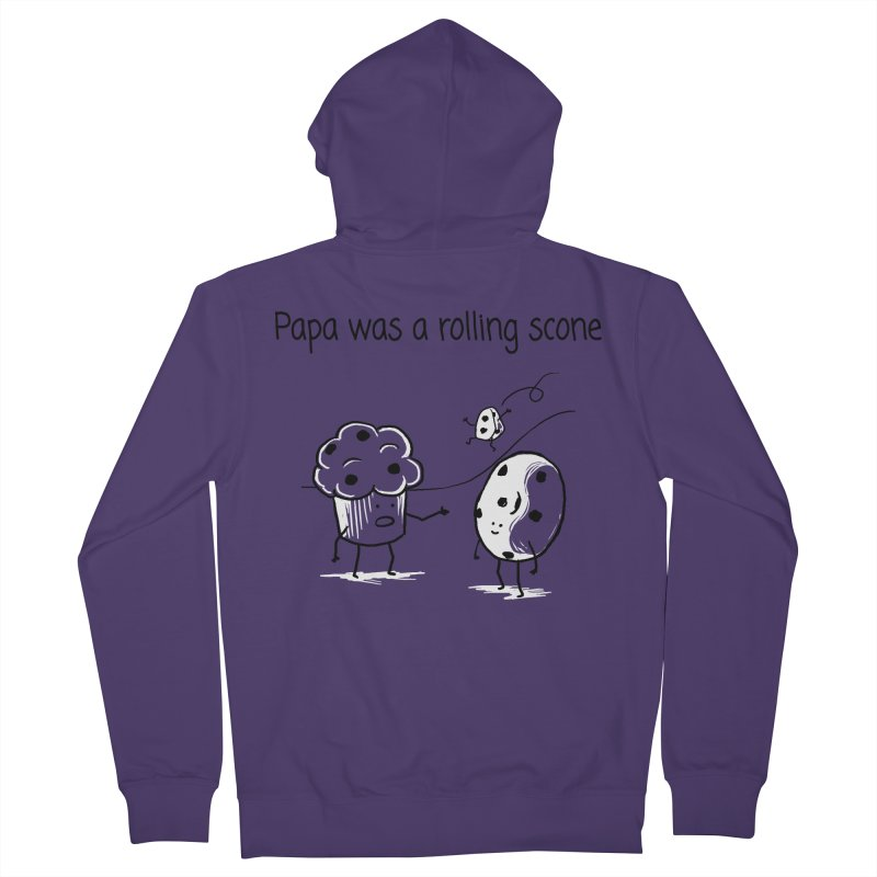 Papa was a rolling scone Women's Zip-Up Hoody by 1 OF MANY LAURENS