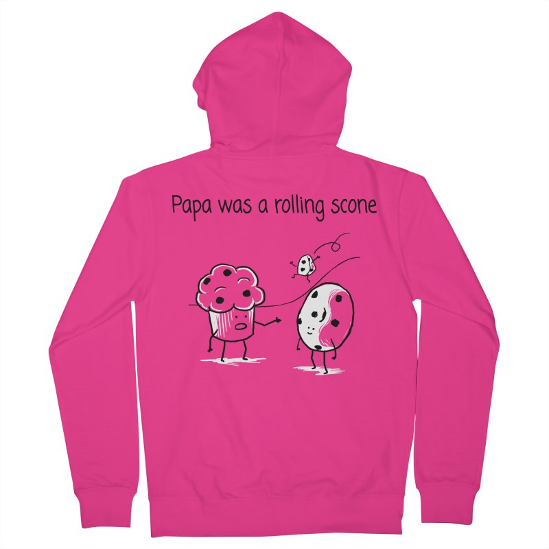 Papa was a rolling scone Men's Zip-Up Hoody by 1 OF MANY LAURENS
