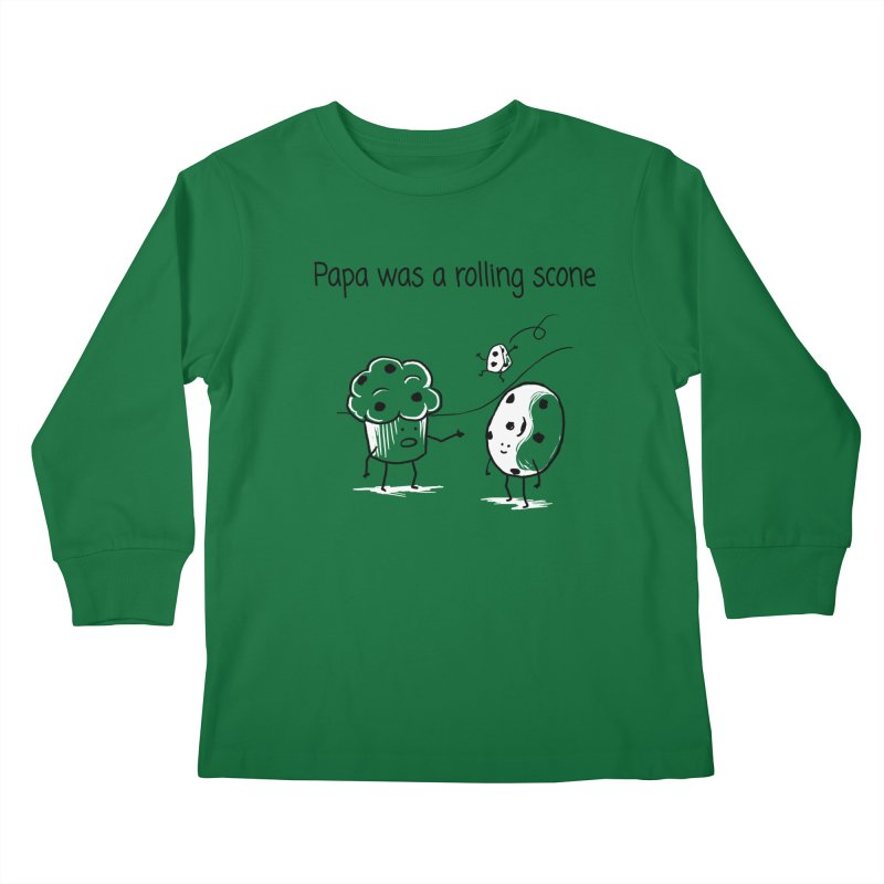 Papa was a rolling scone Kids Longsleeve T-Shirt by 1 OF MANY LAURENS