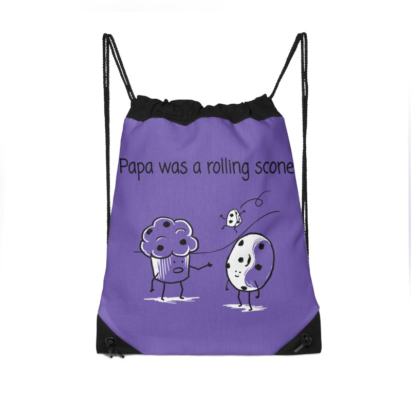 Papa was a rolling scone Accessories Drawstring Bag Bag by 1 OF MANY LAURENS