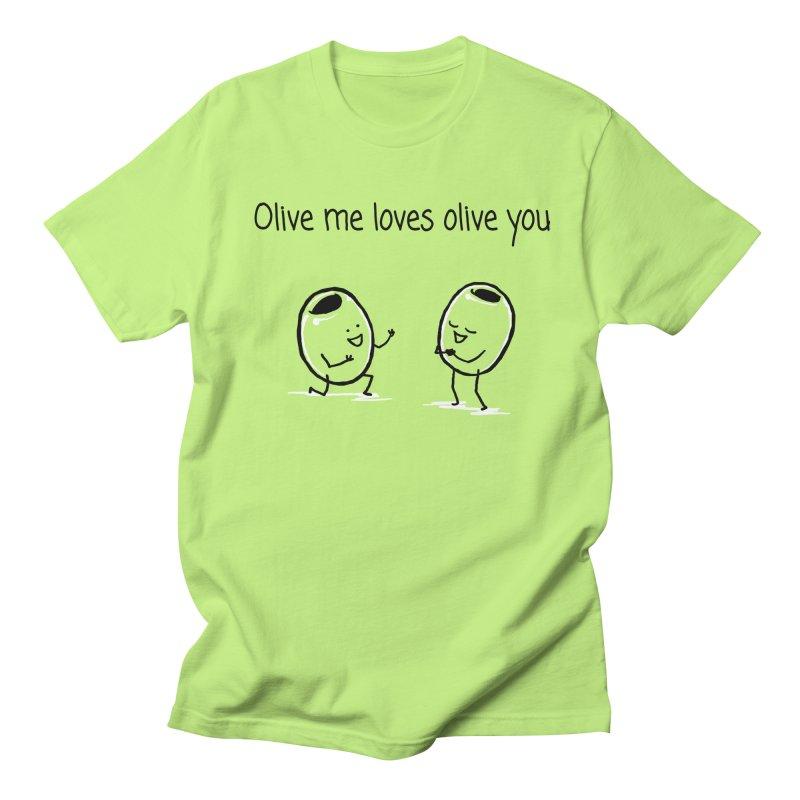 Olive me loves olive you Men's Regular T-Shirt by 1 OF MANY LAURENS