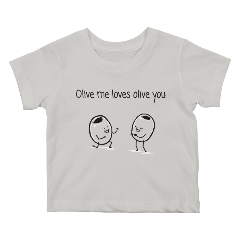 Olive me loves olive you Kids Baby T-Shirt by 1 OF MANY LAURENS