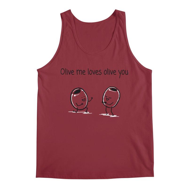 Olive me loves olive you Men's Regular Tank by 1 OF MANY LAURENS