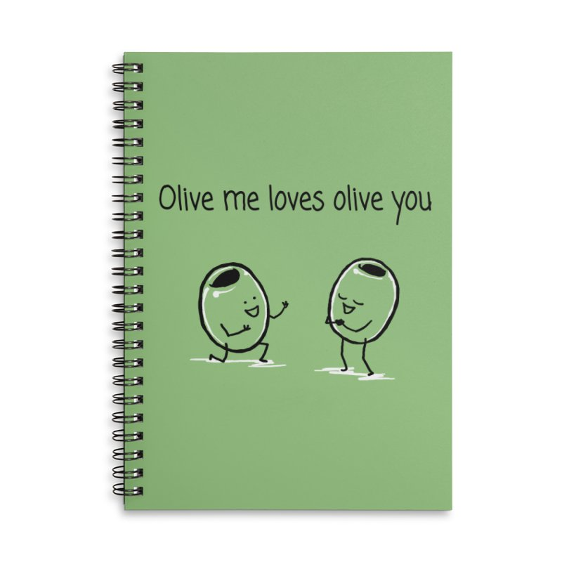 Olive me loves olive you Accessories Lined Spiral Notebook by 1 OF MANY LAURENS