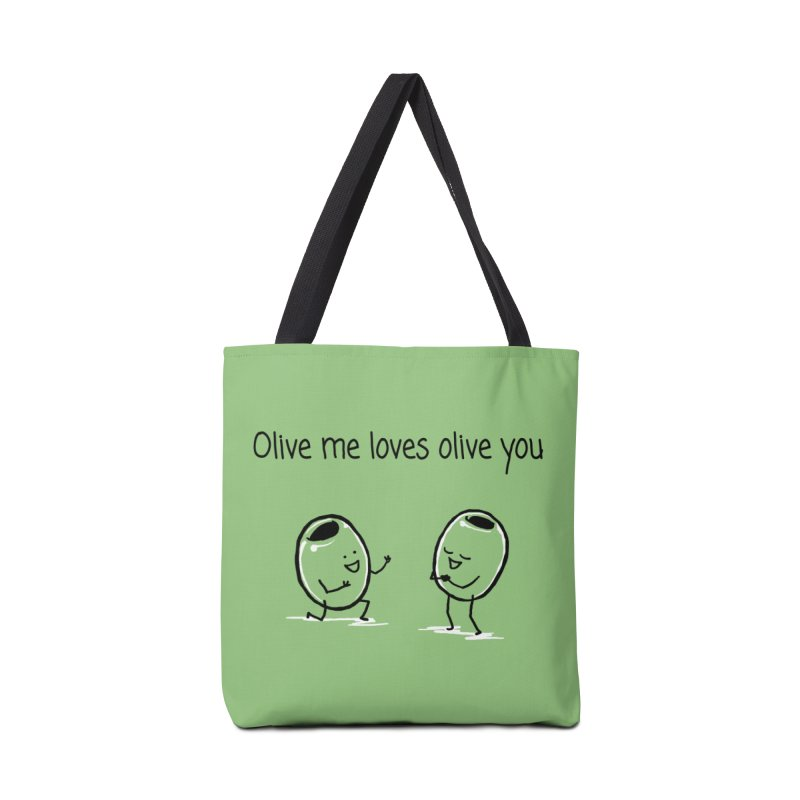 Olive me loves olive you Accessories Bag by 1 OF MANY LAURENS