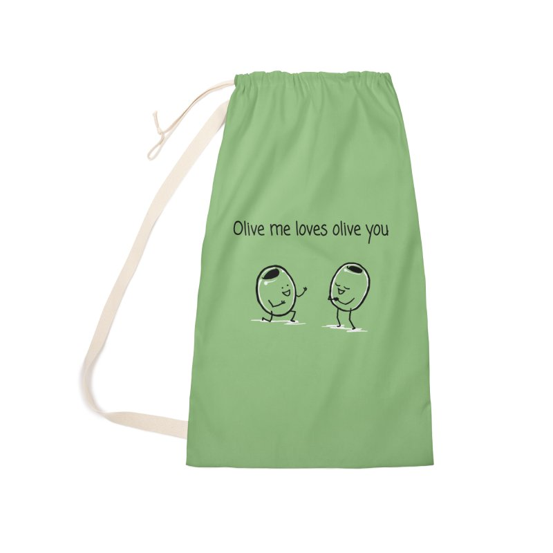 Olive me loves olive you Accessories Laundry Bag Bag by 1 OF MANY LAURENS