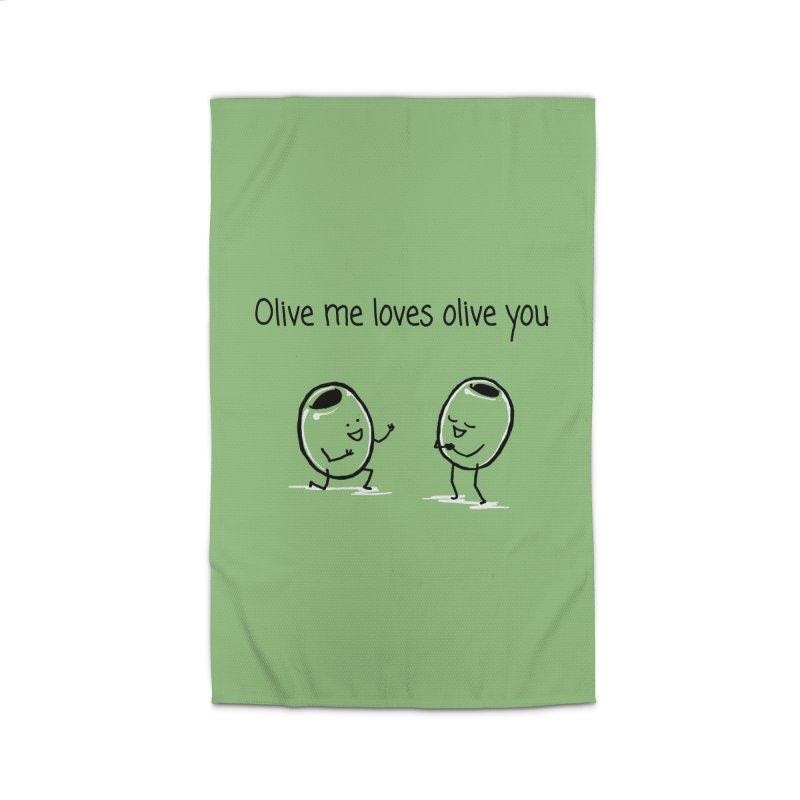 Olive me loves olive you Home Rug by 1 OF MANY LAURENS