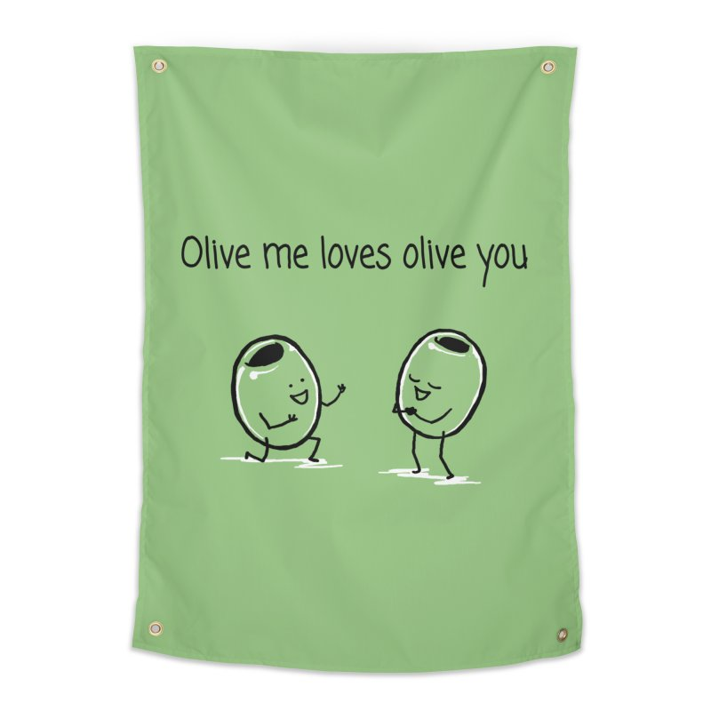 Olive me loves olive you Home Tapestry by 1 OF MANY LAURENS