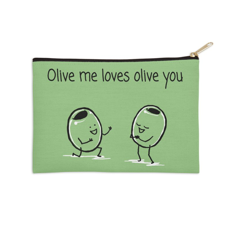 Olive me loves olive you Accessories Zip Pouch by 1 OF MANY LAURENS