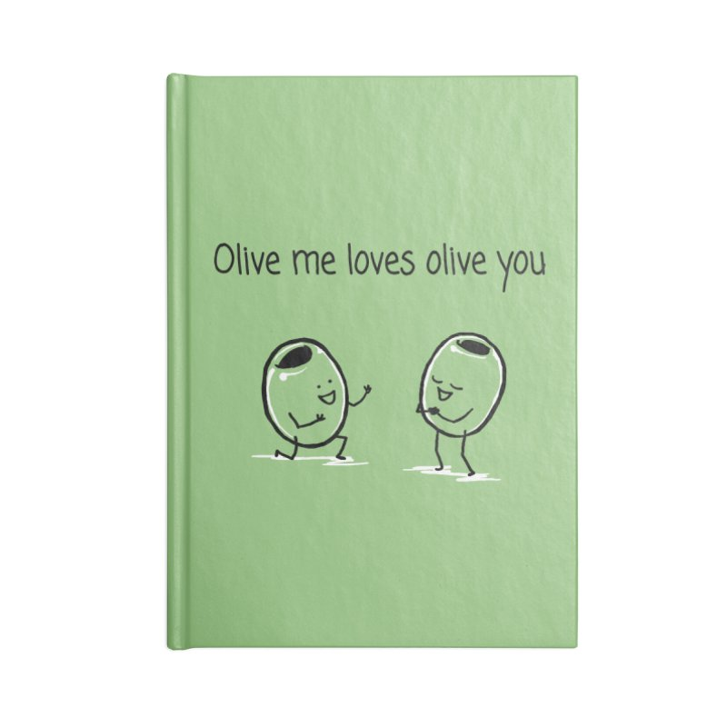 Olive me loves olive you Accessories Lined Journal Notebook by 1 OF MANY LAURENS