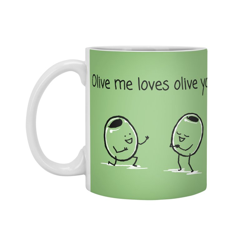 Olive me loves olive you Accessories Standard Mug by 1 OF MANY LAURENS