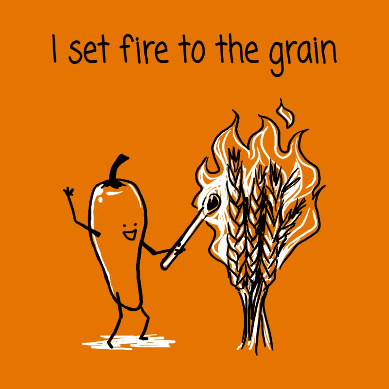 I set fire to the grain Home Framed Fine Art Print by 1 OF MANY LAURENS