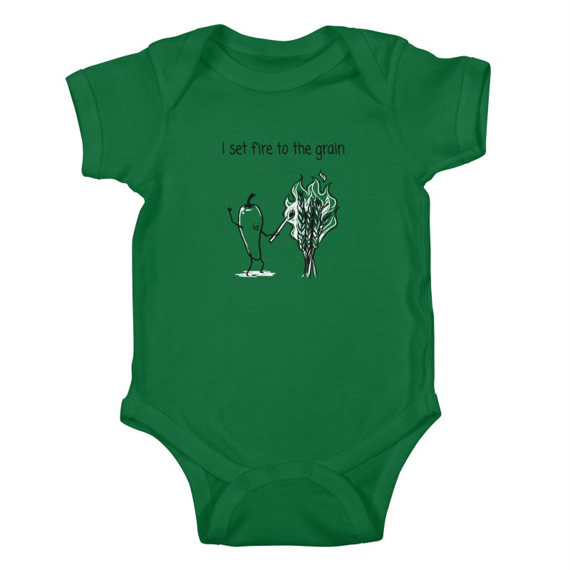 I set fire to the grain Kids Baby Bodysuit by 1 OF MANY LAURENS