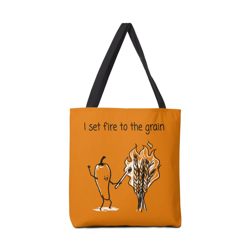 I set fire to the grain Accessories Tote Bag Bag by 1 OF MANY LAURENS