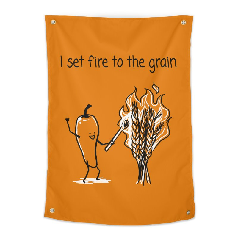 I set fire to the grain Home Tapestry by 1 OF MANY LAURENS