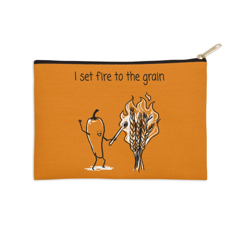 I set fire to the grain Accessories Zip Pouch by 1 OF MANY LAURENS