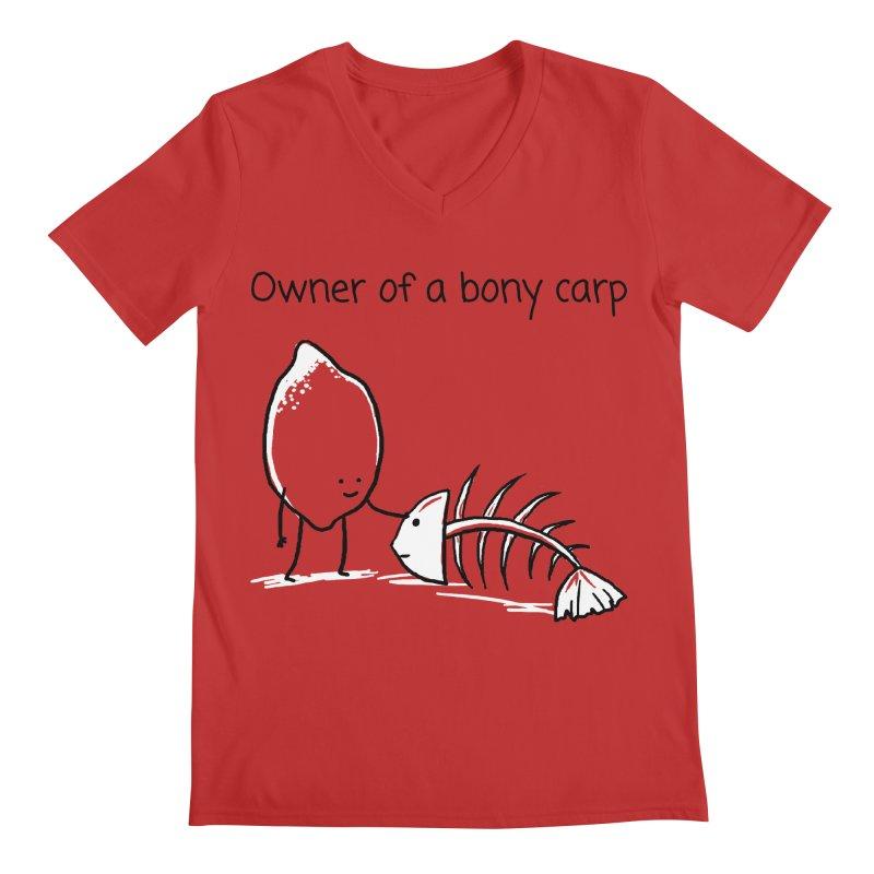 Owner of a bony carp Men's V-Neck by 1 OF MANY LAURENS
