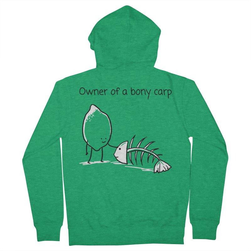 Owner of a bony carp Men's Zip-Up Hoody by 1 OF MANY LAURENS