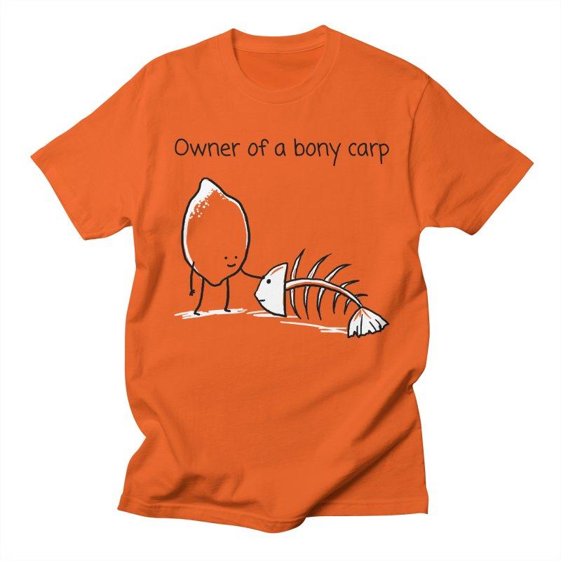 Owner of a bony carp Men's Regular T-Shirt by 1 OF MANY LAURENS