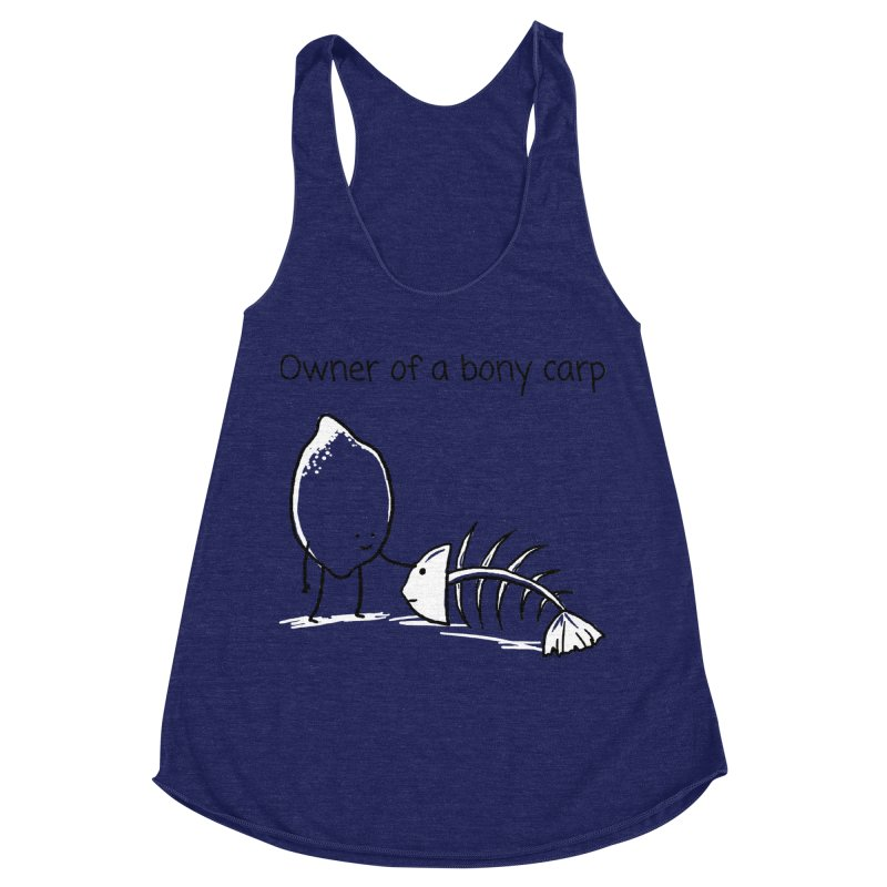 Owner of a bony carp Women's Racerback Triblend Tank by 1 OF MANY LAURENS