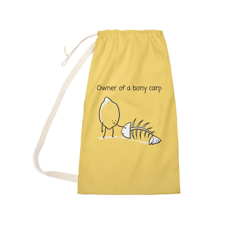 Owner of a bony carp Accessories Laundry Bag Bag by 1 OF MANY LAURENS