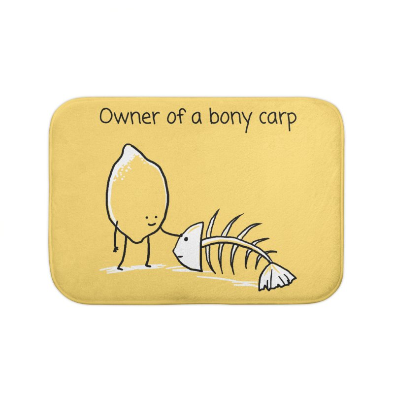 Owner of a bony carp Home Bath Mat by 1 OF MANY LAURENS