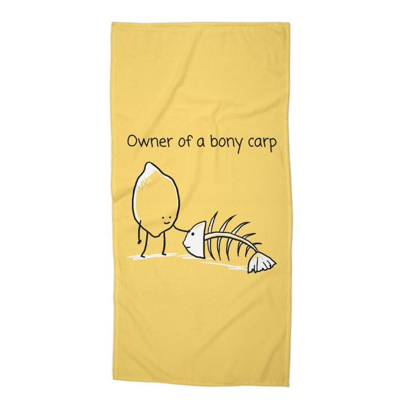 Owner of a bony carp Accessories Beach Towel by 1 OF MANY LAURENS
