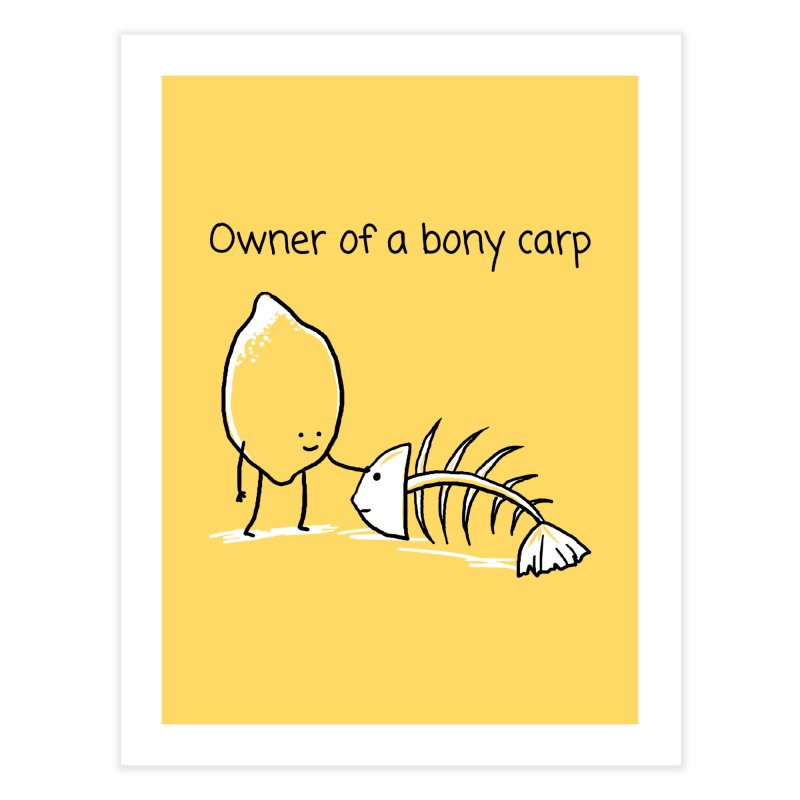 Owner of a bony carp Home Fine Art Print by 1 OF MANY LAURENS