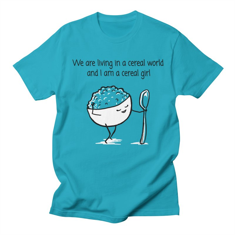 I am a cereal girl Men's Regular T-Shirt by 1 OF MANY LAURENS