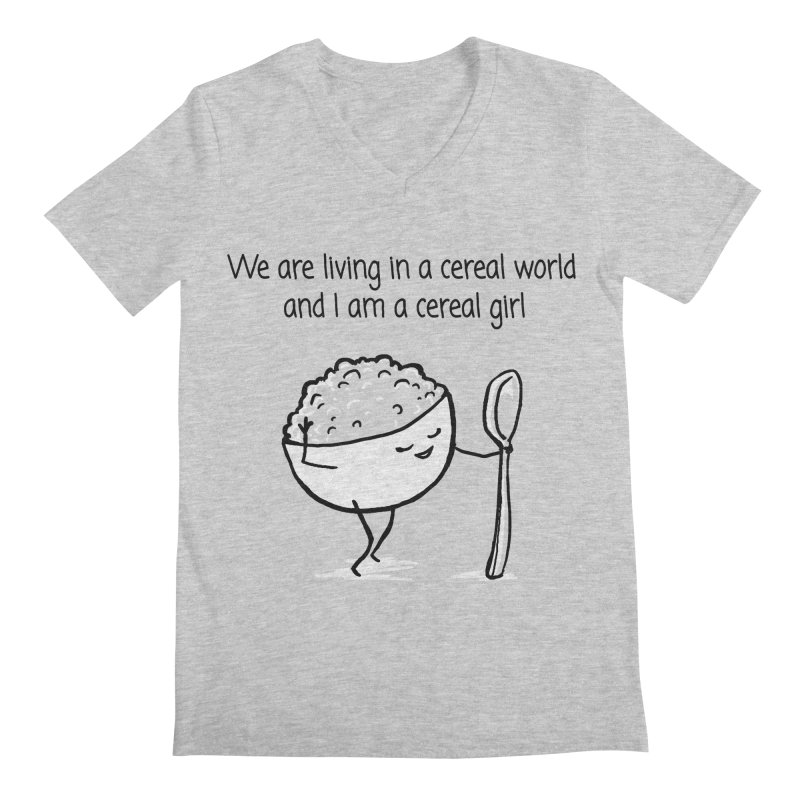 I am a cereal girl Men's Regular V-Neck by 1 OF MANY LAURENS
