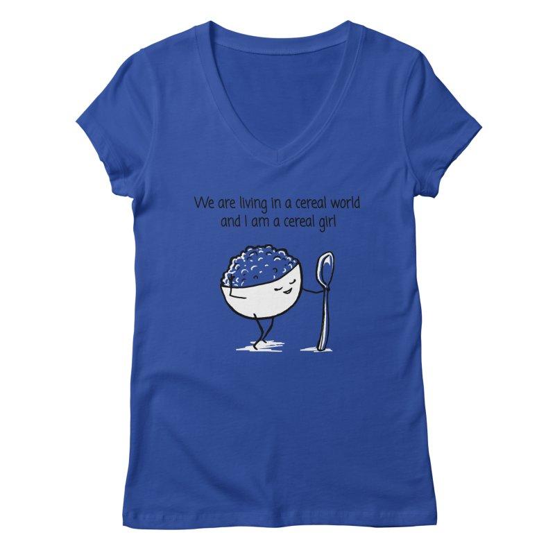 I am a cereal girl Women's Regular V-Neck by 1 OF MANY LAURENS
