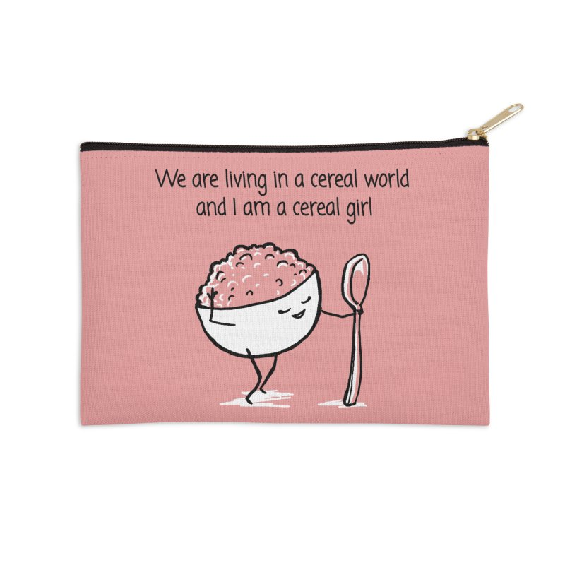 I am a cereal girl Accessories Zip Pouch by 1 OF MANY LAURENS