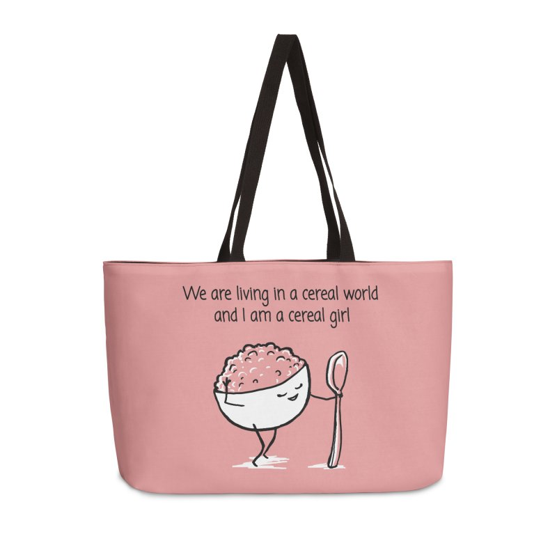 I am a cereal girl Accessories Weekender Bag Bag by 1 OF MANY LAURENS