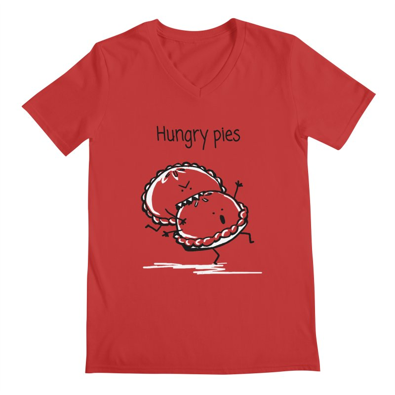 Hungry pies Men's V-Neck by 1 OF MANY LAURENS