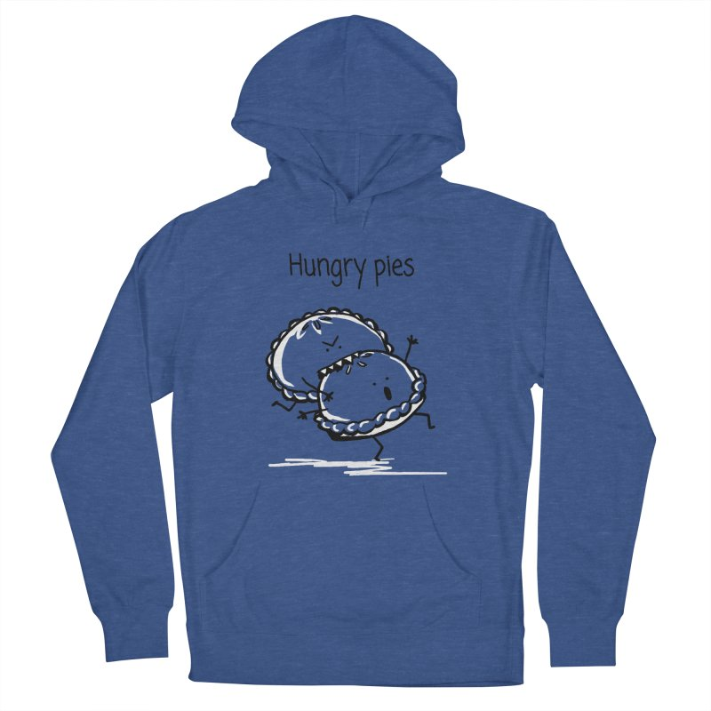 Hungry pies Men's French Terry Pullover Hoody by 1 OF MANY LAURENS